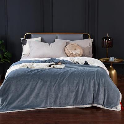 2020新款-双层贝贝绒毯 毛毯款100*130cm 珍珠灰+白