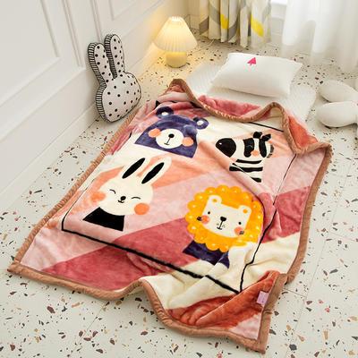 2020新款加厚大版卡通儿童云毯拉舍尔婴儿毯子双层毛毯童毯 105x130cm 萌宠