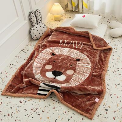 2020新款加厚大版卡通儿童云毯拉舍尔婴儿毯子双层毛毯童毯 105x130cm 狮子王