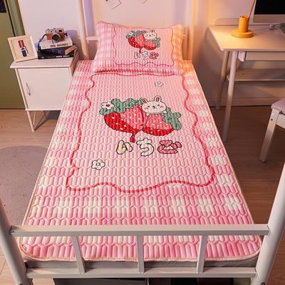 2021新款学生宿舍大版乳胶席数码印花凉席 120*200cm 草莓兔