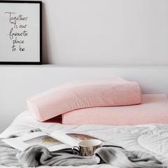 2019新款针织棉乳胶枕-波浪枕 40*60cm粉色