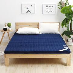 2018新款-记忆棉慢回弹床垫 90*200cm 蓝(6公分厚)