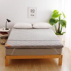 2018新款-珊瑚绒竹炭加厚款床垫 90*200cm 灰色