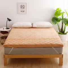 2018新款-珊瑚绒竹炭加厚款床垫 90*200cm 驼色