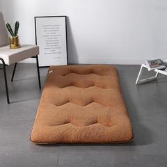 2018新款-彩色羊羔绒床垫 150*200cm 学生款 咖