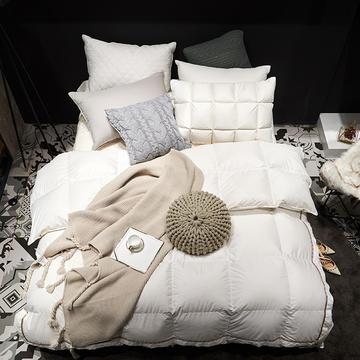 2018新款全棉奢雅 羽绒被 白鹅绒被 200X230cm 白色