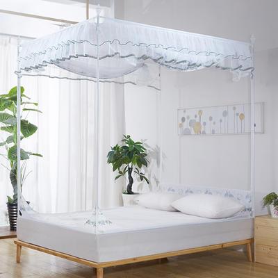 2018新款坐床式方顶蚊帐-爱情鸟 1.5m(5英尺)床 军绿色