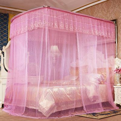 2018新款钓鱼杆伸缩蚊帐-罗马假日 1.5m(5英尺)床 粉色