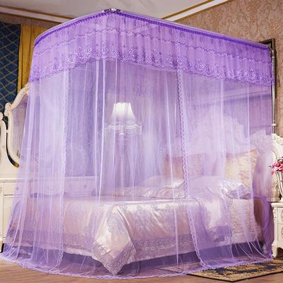 2018新款钓鱼杆伸缩蚊帐-罗马假日 1.5m(5英尺)床 紫色
