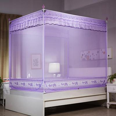 2018新款外穿坐床式防蚊帐-爱马车 1.5m(5英尺)床 紫色