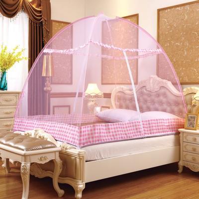 2019新款防蚊魔术蚊帐 1.2m(4英尺)床 防蚊魔术帐-粉色