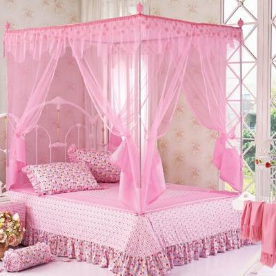 2019新款坐床蚊帐-花飞满天 1.5m(5英尺)床 花飞满天060-粉色