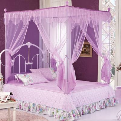 2019新款坐床蚊帐-花飞满天 1.5m(5英尺)床 花飞满天060-紫色