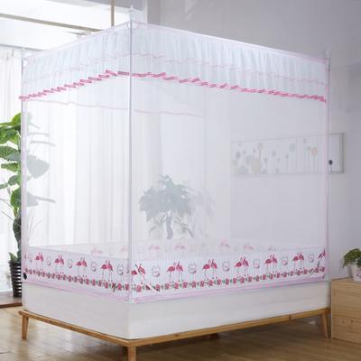 2019新款坐床蚊帐-爱情鸟 1.5m(5英尺)床 粉色