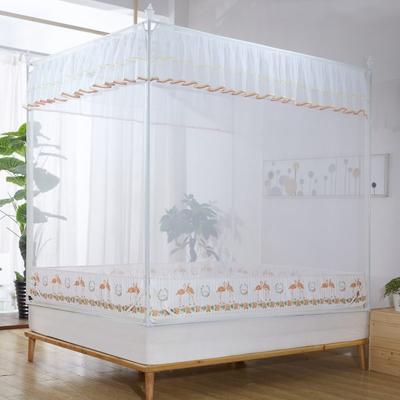2019新款坐床蚊帳-愛情鳥 1.5m(5英尺)床 黃色