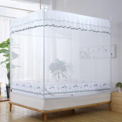 2019新款坐床蚊帐-爱情鸟 1.5m(5英尺)床 军绿色