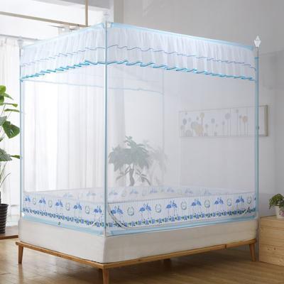 2019新款坐床蚊帐-爱情鸟 1.5m(5英尺)床 蓝色