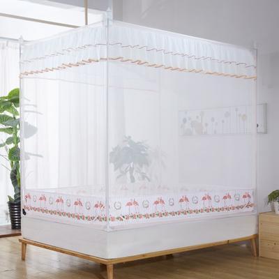 2019新款坐床蚊帐-爱情鸟 1.5m(5英尺)床 玉色
