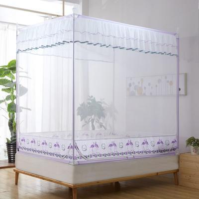 2019新款坐床蚊帐-爱情鸟 1.5m(5英尺)床 紫色