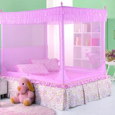 2019新款坐床蚊帐-纯色小美 1.5m(5英尺)床 粉色