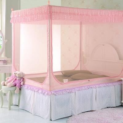 2019新款坐床蚊帐-纯色小美 1.5m(5英尺)床 玉色