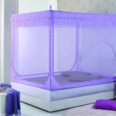 2019新款坐床蚊帐-纯色小美 1.5m(5英尺)床 紫色