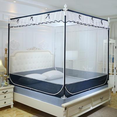 2019新款坐床蚊帐-风雅 1.5m(5英尺)床 风雅-蓝