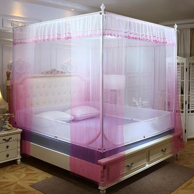 2019新款坐床蚊帐-曼舞 1.5m(5英尺)床 粉色