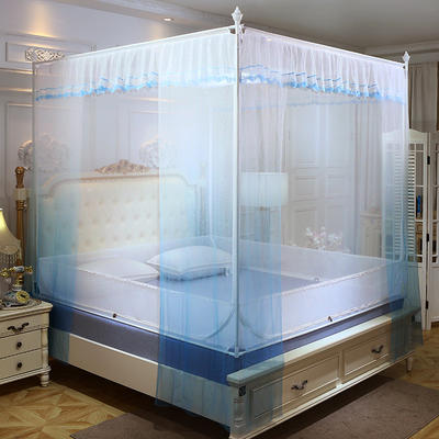 2019新款坐床蚊帐-曼舞 1.5m(5英尺)床 蓝色