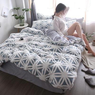 2020新款高克重舒棉绒单品被套枕套 单枕套/对 米兰