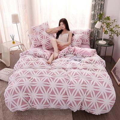 2020新款高克重舒棉绒单品被套枕套 单枕套/对 米兰-粉