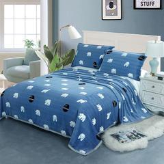 2018新款-云貂绒毯子珊瑚绒毛毯 法莱绒床单盖毯 枕芯 抱枕  有配套枕套 70cmx100cm随机花型 北极熊
