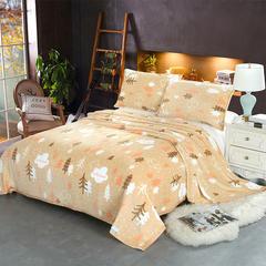 2018新款-云貂绒毯子珊瑚绒毛毯 法莱绒床单盖毯 枕芯 抱枕  有配套枕套 70cmx100cm随机花型 热带雨林