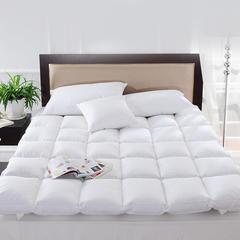2018新款-百思寒加厚白鹅毛片羽绒床垫 五星级酒店床垫保暖单双人学生床褥 100cm*200cm 白色标准型