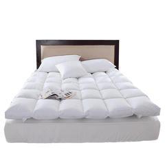 2018新款-百思寒加厚白鹅毛片羽绒床垫 五星级酒店床垫保暖单双人学生床褥 100cm*200cm 白色加厚型
