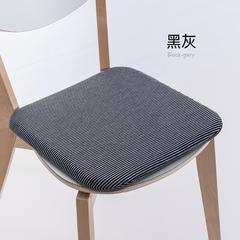 2018新款27度日系简约记忆棉方垫 36*36*3cm 黑灰
