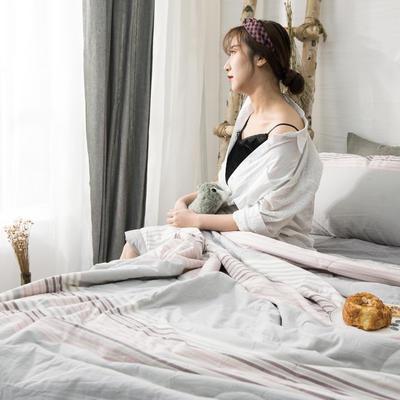 2019新品无印风全棉色织水洗棉棉花夏被四件套 单床单160*230cm 流光溢彩