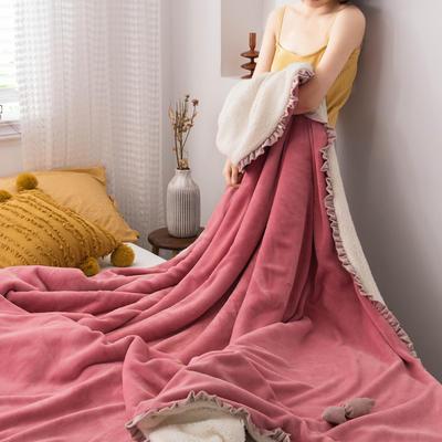网红风牛奶绒毛毯可套被芯法莱绒水晶绒毛毯 150cmX200cm 豆沙蜜
