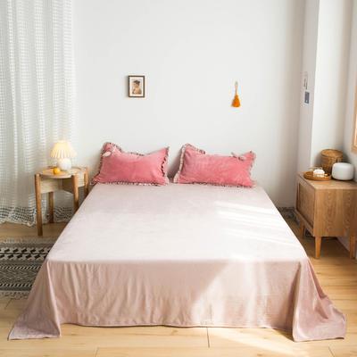 网红风牛奶绒法莱绒水晶绒单品床单 单品床笠 180x230cm(单床单) ?#22478;?#31881;
