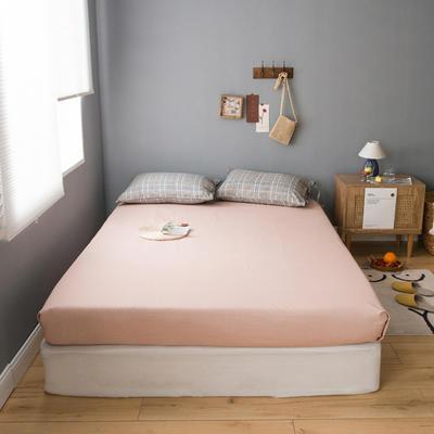 2020新款全棉ins風復古格套件系列—單品床笠 150x200cm 粉紫格