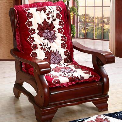 2018布艺沙发垫(一座一靠) 一座一靠55cm 红叶