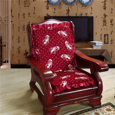 2018布艺沙发垫(一座一靠) 一座一靠55cm 红羽毛