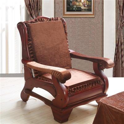 2018布艺沙发垫(一座一靠) 一座一靠55cm 金丝绒咖