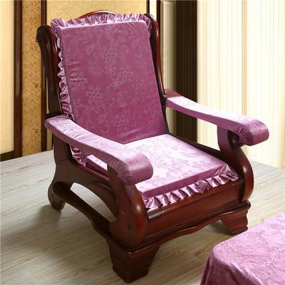 2018布艺沙发垫(一座一靠) 一座一靠55cm 金丝绒紫
