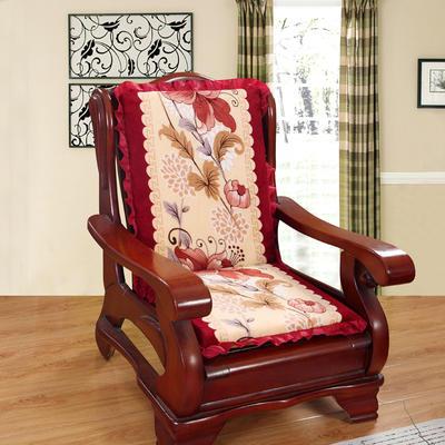 2018布艺沙发垫(一座一靠) 一座一靠55cm 郁金香红