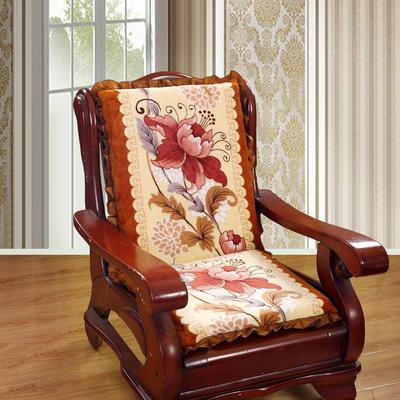 2018布艺沙发垫(一座一靠) 一座一靠55cm 郁金香桔