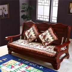 2018布艺沙发垫(长条款) 单人52x52厘米 百合花