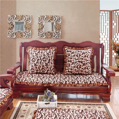 2018布艺沙发垫(长条款) 单人52x52厘米 豹纹