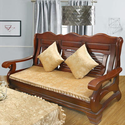 2018布艺沙发垫(长条款) 双人52x108厘米 金丝绒米色