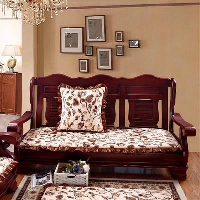 2018布艺沙发垫(长条款) 双人52x108厘米 牵牛花